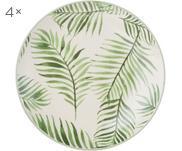 Raňajkový tanier s jemným vzorom Jade, 4 ks