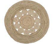 Okrúhly ručne tkaný jutový koberec Tapu