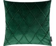 Zamatový poťah na vankúš v zelenej farbe  s diamantovým vzorom Nobless