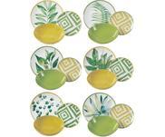 Súprava tanierov s tropickým dizajnom Botanique, 6 osôb (18 dielov)