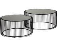 Súprava kovových konferenčných stolíkov Wire, 2 diely