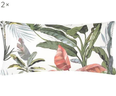 Obliečka na vankúš z bavlneného perkálu s tropickou potlačou Tropicana, 2ks