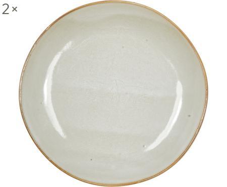Ručne vyrobený raňajkový tanier z kameniny Thalia, 2 ks