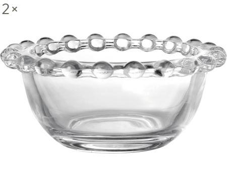 Malá sklenená miska Perles, 2 ks