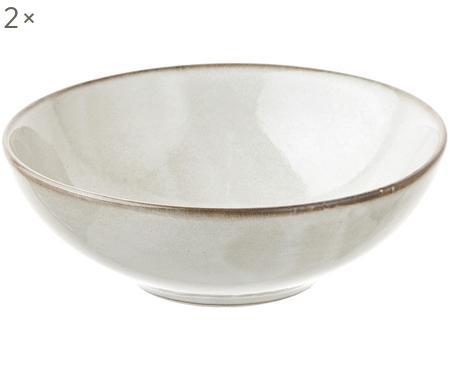 Ručne vyrobená miska z kameniny Thalia, 2 ks