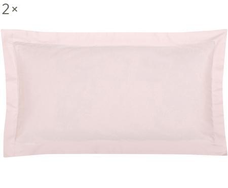 Obliečky na vankúš z bavlneného saténu so širokým lemom Premium,  2 ks