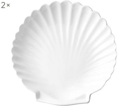 Plytký tanier Shell, 2 ks