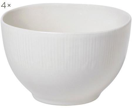 Ručne vyrobená miska s jemným reliéfom Sandvig, 4 ks