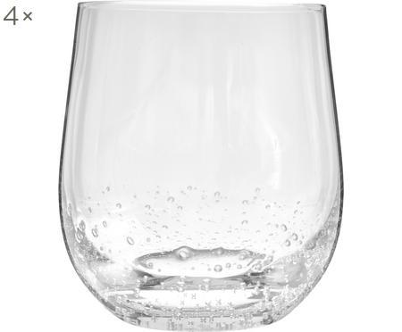 Ručne fúkané poháre na vodu Bubble, 4 kusy
