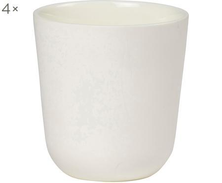 Hrnček Nudge, biela matná/lesklá, 4 ks