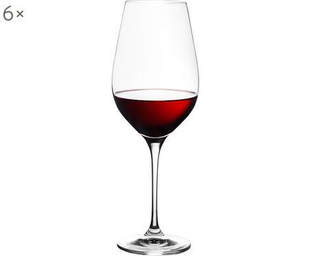 Súprava krištáľových pohárov načervené víno Harmony, 6dielov