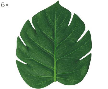 Podložky z umelej hmotyvo forme listu Jungle, 6 ks