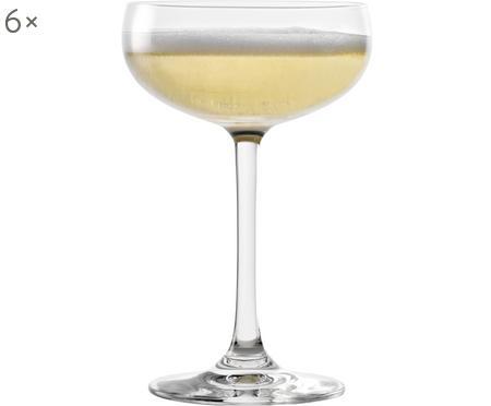 Krištáľové poháre na šampanské Elements, 6 dielov