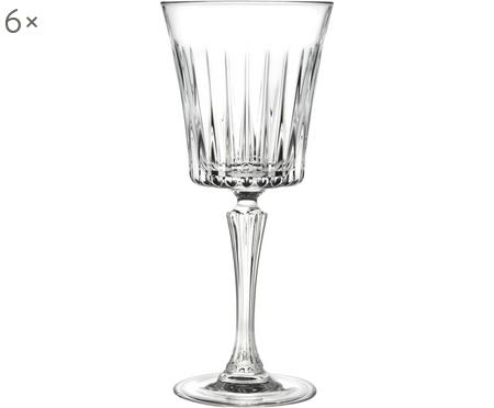 Krištáľové poháre na biele víno s drážkovaným reliéfom Timeless, 6ks