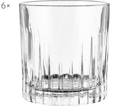 Krištáľový pohár na whisky Timeless s drážkovanou štruktúrou, 6 ks