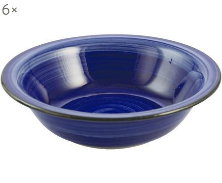 Ručne maľovaný hlboký tanier Baita, 6 ks