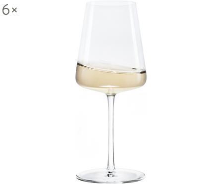 Krištáľové poháre na biele víno Power, 6 kusov