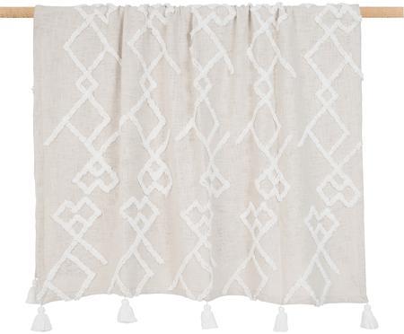 Bavlnená deka s tuftovanou dekoráciou Tikki