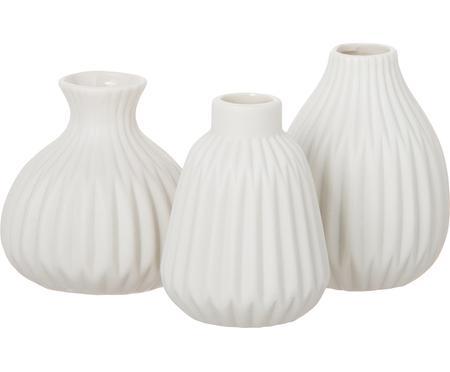 Súprava menších porcelánových váz Esko, 3 diely