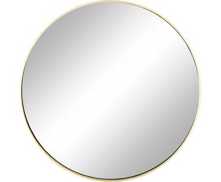 Okrúhle nástenné zrkadlo so zlatým rámom Ada