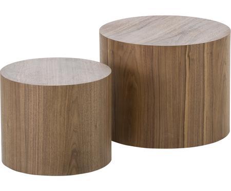 Súprava pomocných stolíkov z dreva Dan, 2 diely
