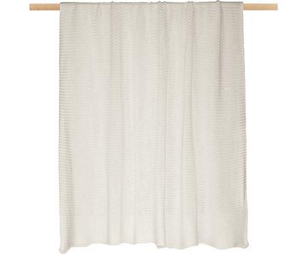 Štrikovaná deka Adalyn, prírodná biela