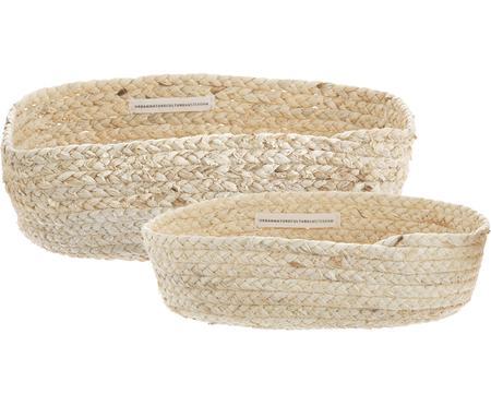 Ručne vyrobená súprava košov z kukuričných listov Corinna, 2 diely