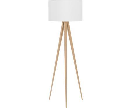 Stojacia lampa s dreveným podstavcom Jake