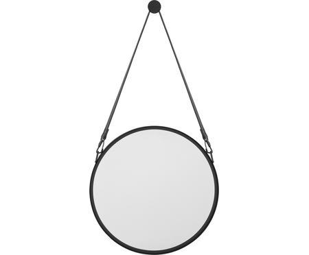 Okrúhle nástenné zrkadlo s čiernym závesom Liz