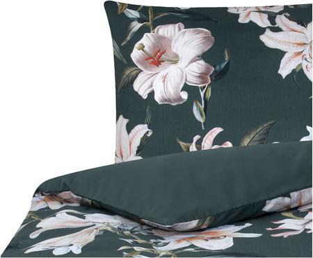 Posteľná bielizeň z bavlneného saténu s kvetinovou potlačou Flori