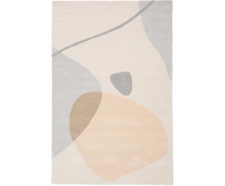 Ručne tuftovaný vlnený koberec s abstraktným vzorom Luke
