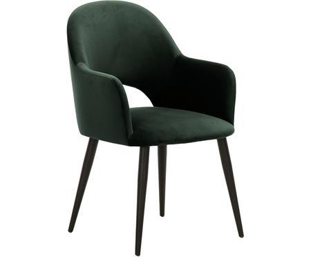 Zamatová stolička s opierkami Rachel