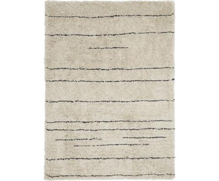 Ručne tuftovaný huňatý koberec s vysokým vlasom Dunya