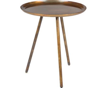 Okrúhly odkladací stolík Frost z kovu