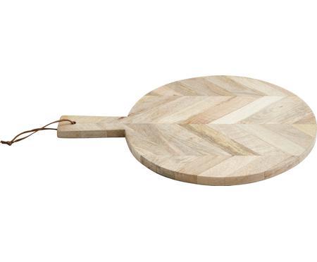 Doska na krájanie z mangového dreva Herringbone, Ø 32 cm