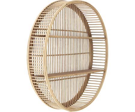 Okrúhly nástenný regál z bambusu Bentra