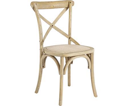 Drevená stolička Cross vo vidieckom štýle