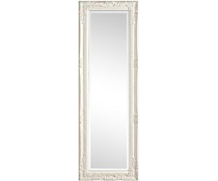 Nástenné zrkadlo s bielym dreveným rámom Miro