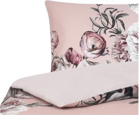 Posteľná bielizeň z bavlneného saténu s kvetinovou potlačou Blossom