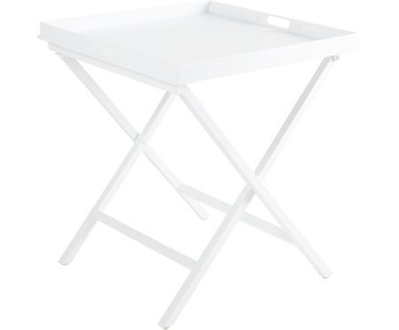 Skladací stolík s podnosom Vero, biela