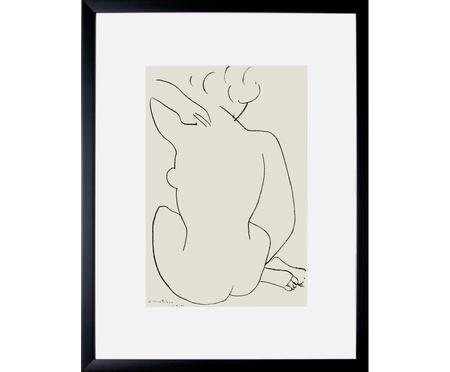 Digitálna tlač s rámom Matisse: Nu Accroupi