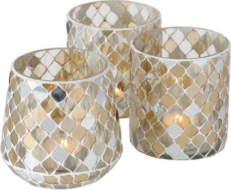 Súprava svietnikov na čajové sviečky Horya, 3diely