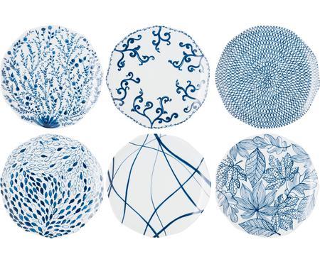 Vzorovaná súprava plytkých tanierov Vassoio, 6 dielov