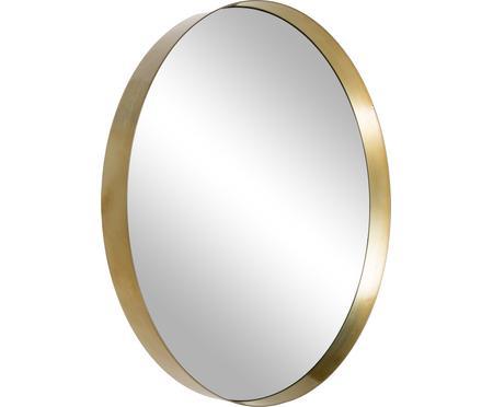 Okrúhle nástenné zrkadlo so zlatým rámom Metal