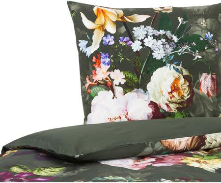 Posteľná bielizeň z bavlneného saténu s kvetinovým vzorom Fleur