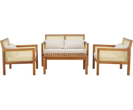 Záhradná sedacia súprava s viedenským výpletom Vie, 4 diely