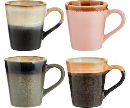 Súprava ručne vyrobených šálok na espresso 70's, 4 diely