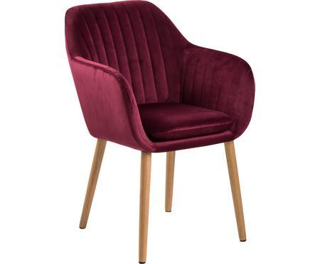 Zamatová čalúnená stolička s opierkami Emilia