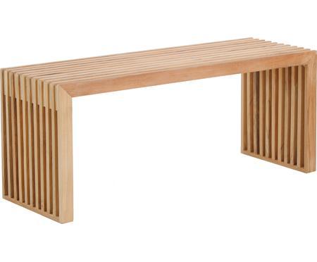 Moderná lavica z tíkového dreva Rib