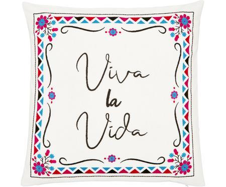 Farebný vyšívaný poťah na vankúš Viva la Vida